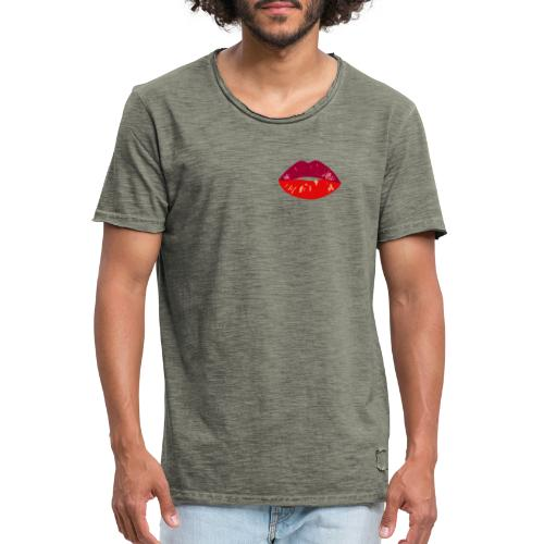 lips - T-shirt vintage Homme