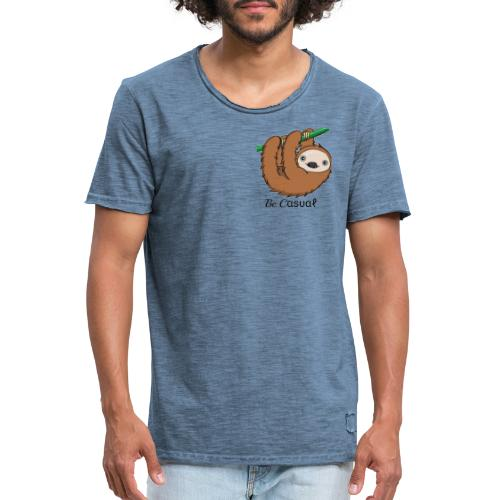 Be-Casual - Männer Vintage T-Shirt