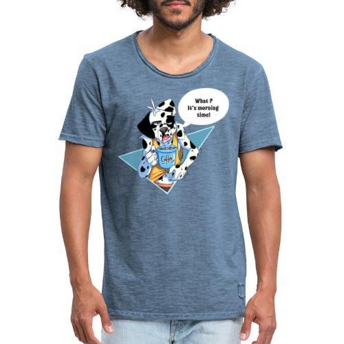 Dalmatien avec son café du matin - Men's Vintage T-Shirt