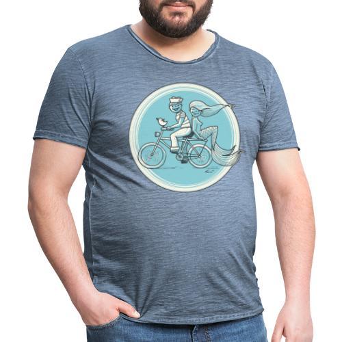To the Beach - Backround - Männer Vintage T-Shirt