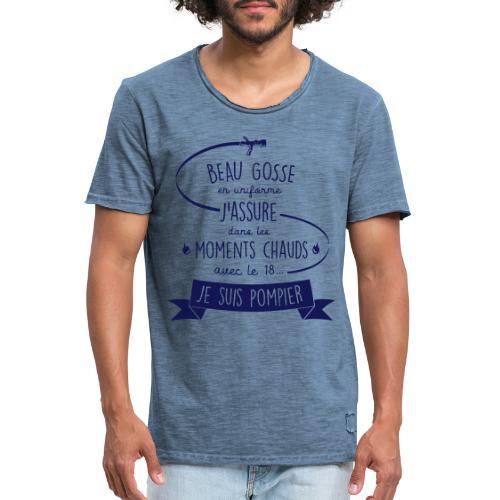 beau gosse pompier - T-shirt vintage Homme