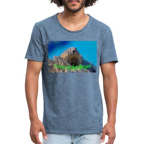 Servus in den Bergen - Männer Vintage T-Shirt