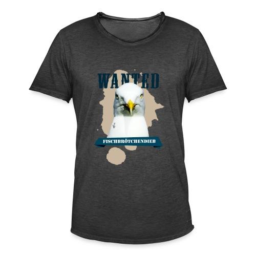 WANTED - Fischbrötchendieb - Männer Vintage T-Shirt