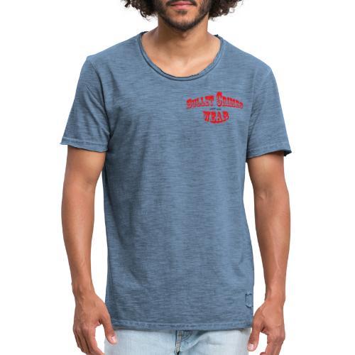 Bulletcrimeslogo2 - Camiseta vintage hombre