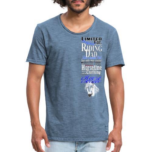 Limited Edition Riding Dad Pferd Reiten - Männer Vintage T-Shirt
