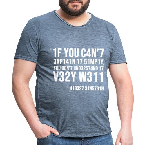 1337 5p34k - T-shirt vintage Homme