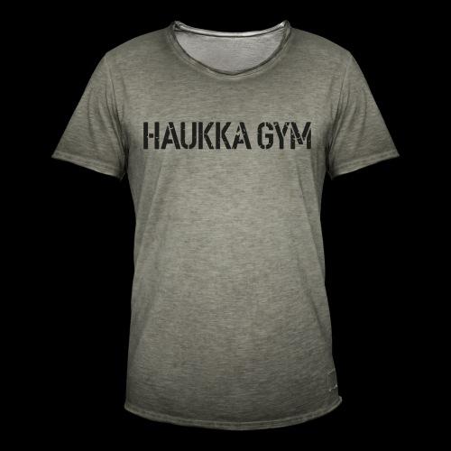 HAUKKA GYM roso text - Miesten vintage t-paita