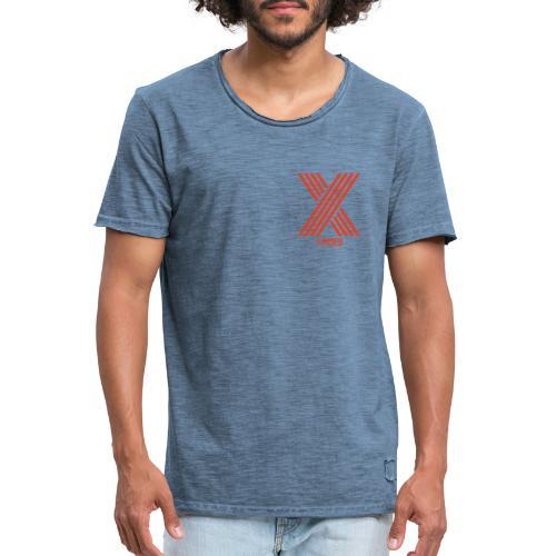 Xposed Logo Orange Darker - Men's Vintage T-Shirt