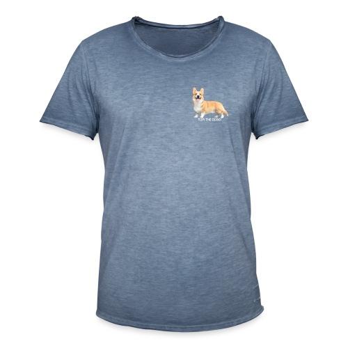 Topi the Corgi - White text - Men's Vintage T-Shirt