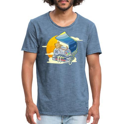 Retro-Leseratte - Männer Vintage T-Shirt