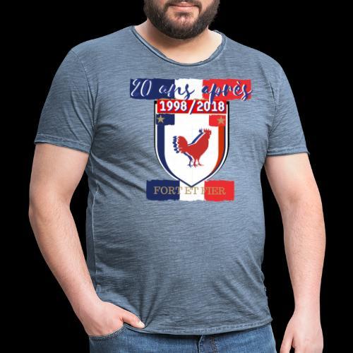 france FRANCE foot coupe du monde football - T-shirt vintage Homme