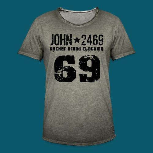 john 2469 numero trasp per spread nero PNG - Maglietta vintage da uomo