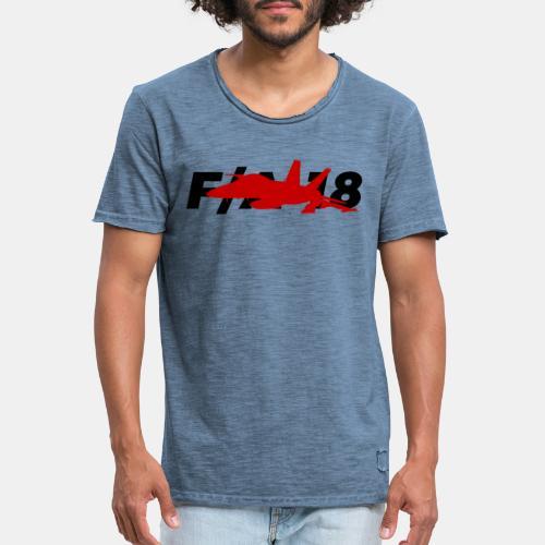 F/A-18 Super Hornet   F 18   F18   F/A18   Hornet - Men's Vintage T-Shirt
