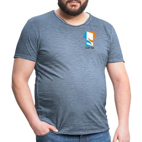 Logo CIFTA letra negro - Camiseta vintage hombre
