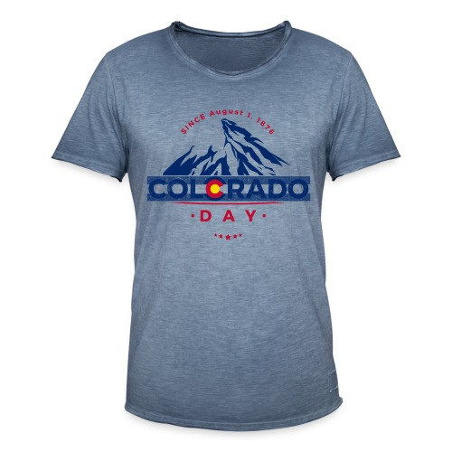 Colorado Day 2018 state flag mountain T shirt - T-shirt vintage Homme