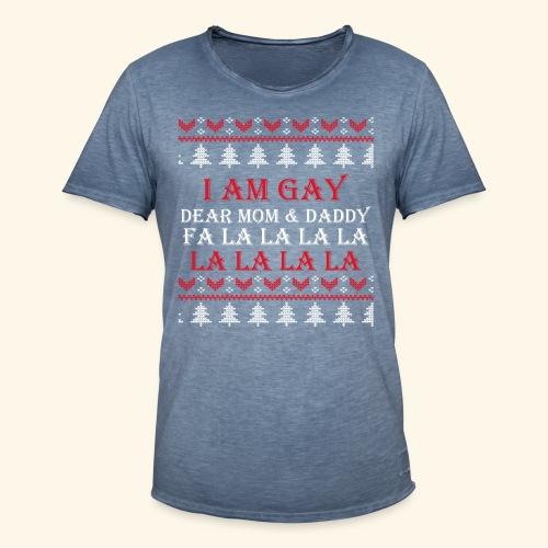 Gay Christmas sweater - Koszulka męska vintage