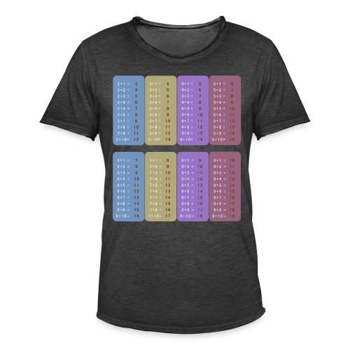 Table d'addition - T-shirt vintage Homme