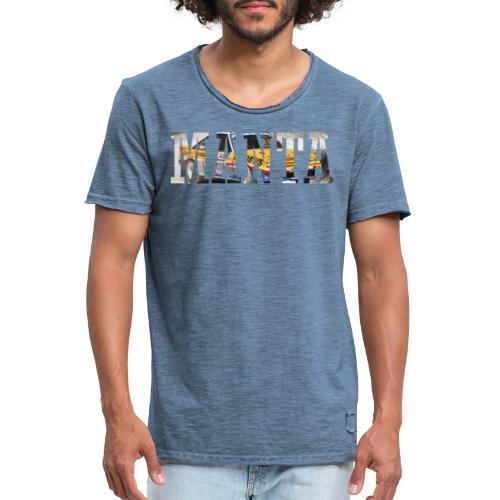 Manta Word design - Mannen Vintage T-shirt
