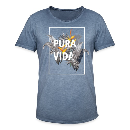 Pura vida / camisetas pura vida /pura vida t-shirt - Camiseta vintage hombre