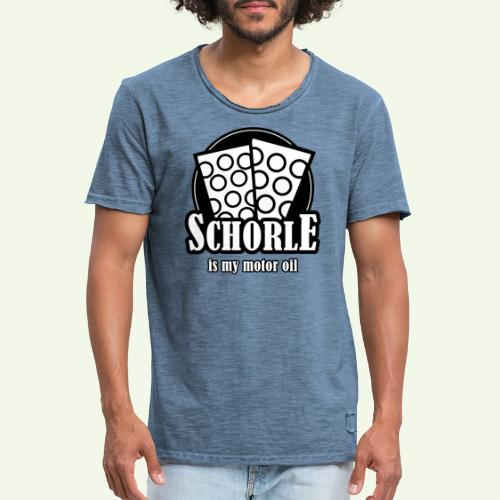 Schorle is my Motoroil Dubbeglaeser - Männer Vintage T-Shirt