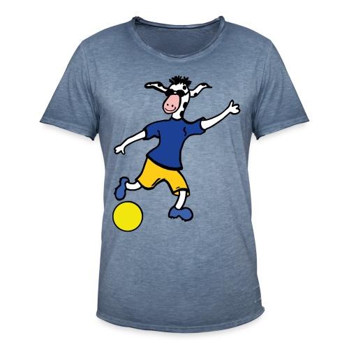 Cowly Fussball Top - Männer Vintage T-Shirt