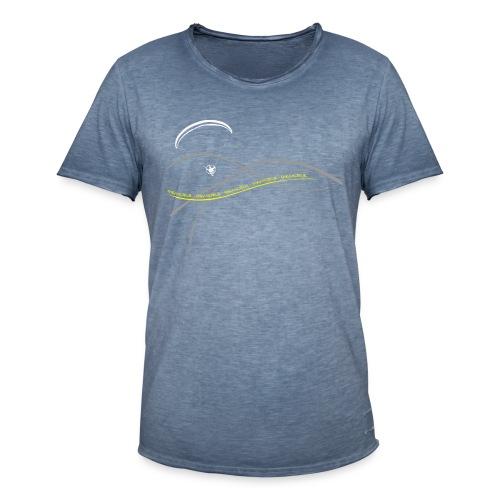 Libert'All paramoteur 3 Brins jaune - T-shirt vintage Homme