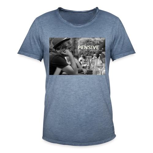 Nachdenklich - Pensive - Männer Vintage T-Shirt