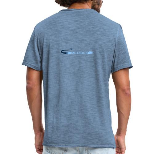 Logo schlicht beidseitig - Männer Vintage T-Shirt