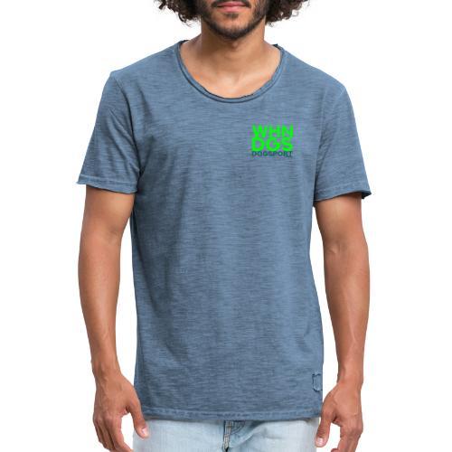 WHNDGS Hundesport Agility Geschenkidee Markenshirt - Männer Vintage T-Shirt