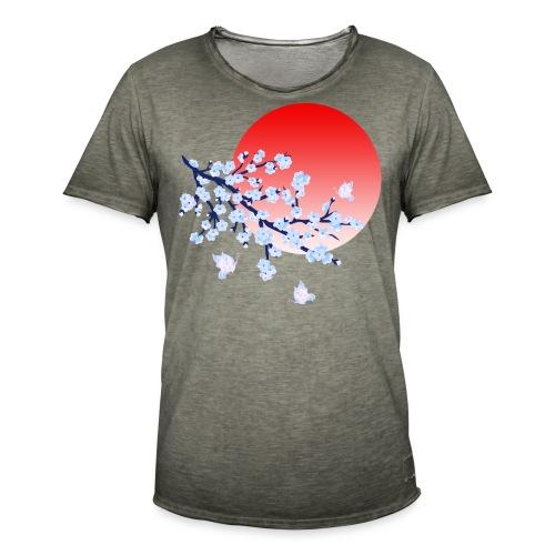 Cherry Blossom Festval Full Moon 4 - Männer Vintage T-Shirt