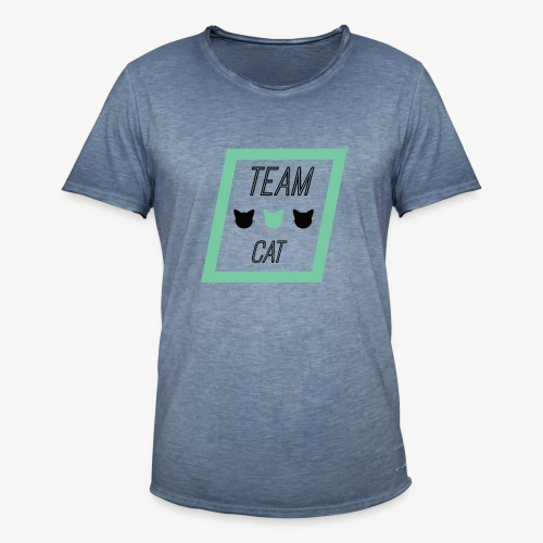 Team Cat - Slogan Tee - Koszulka męska vintage