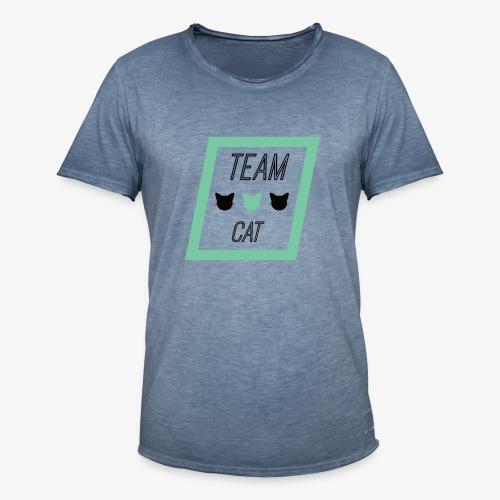 Team Cat - Slogan Tee - T-shirt vintage Homme
