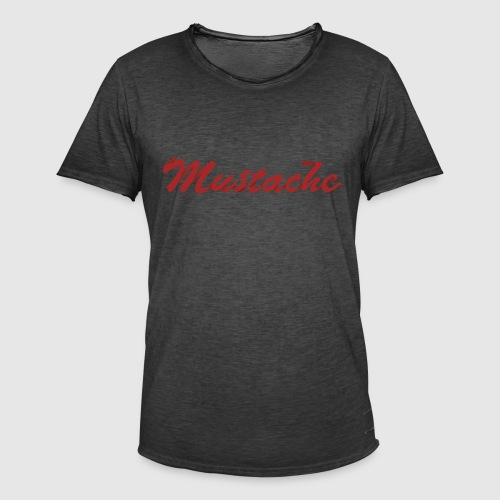 Red Mustache Lettering - Men's Vintage T-Shirt
