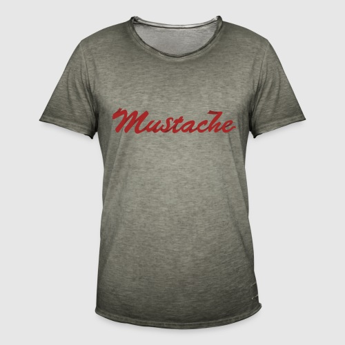 Red Mustache Lettering - Men's Vintage T-Shirt