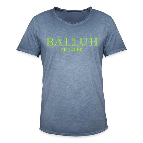 BALLUH NI-J DIEK - navy/neon - Mannen Vintage T-shirt