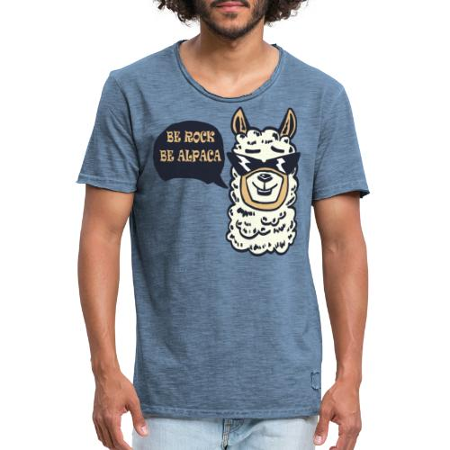 be Rock be Alpaka - Maglietta vintage da uomo