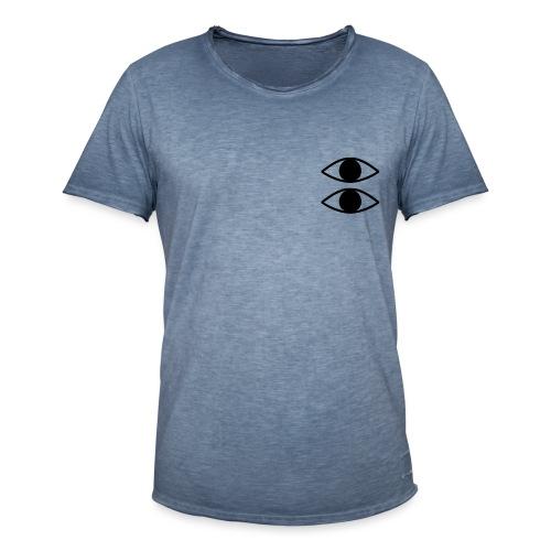 Double Eyes - Vintage-T-skjorte for menn