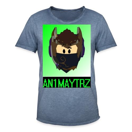 AN1MAYTRZ logo + title - Men's Vintage T-Shirt