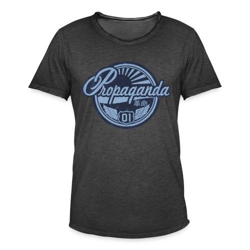 PROPAGANDA 01 BLUE - Men's Vintage T-Shirt
