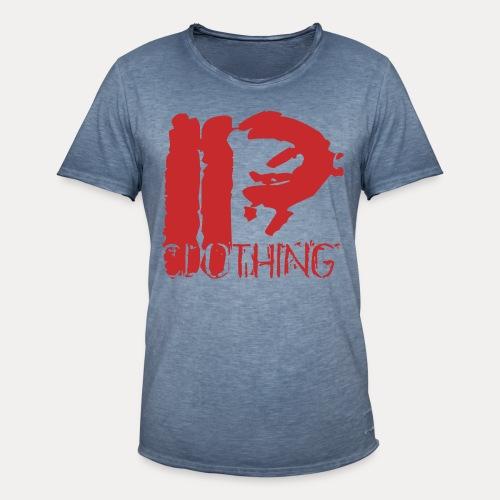 IRON PSYCHO LOGO ORIGINAL-RED - Men's Vintage T-Shirt