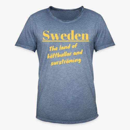 Landet av köttbullar - Vintage-T-shirt herr