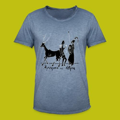 Artemisa y Atenea - Camiseta vintage hombre