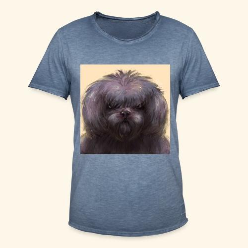 Dog Button - Vintage-T-shirt herr