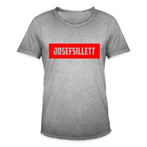 Josef Sillett Red - Men's Vintage T-Shirt