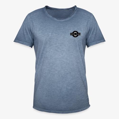 Peppie Plays Logo - Mannen Vintage T-shirt