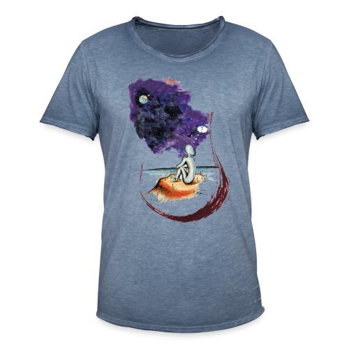 Extraterrestre en contemplation - T-shirt vintage Homme