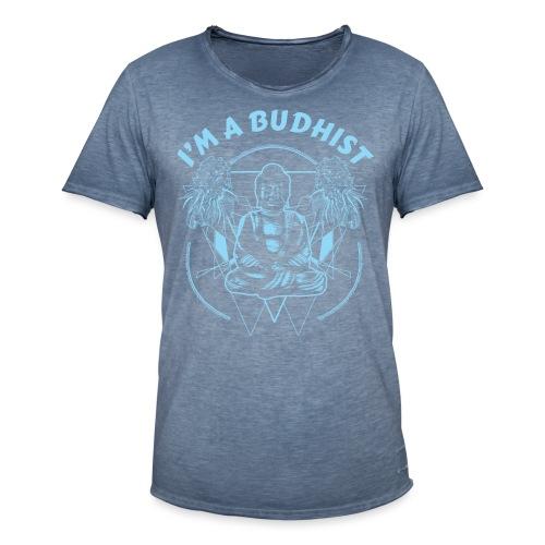 Im a budhist - Vintage-T-skjorte for menn