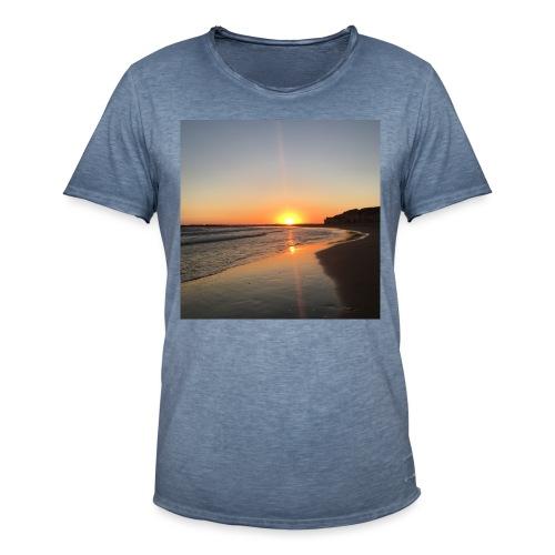 coucher de soleil - T-shirt vintage Homme