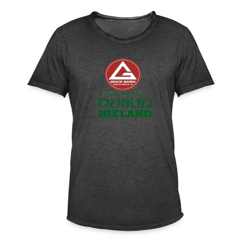 Gracie Barra Dublin Gaelic Celtic Font PNG - Men's Vintage T-Shirt