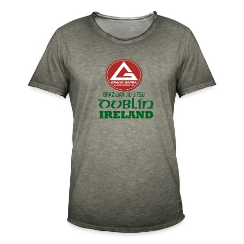 Gracie Barra Dublin Gaelic Celtic Font PNG - Men's Vintage T-Shirt
